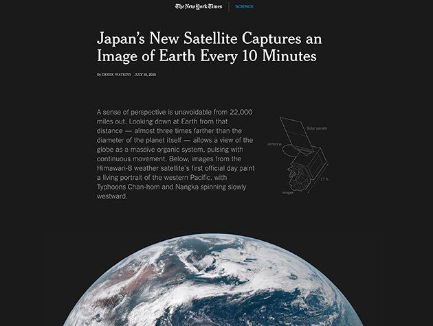 Scroll to see the Earth. (The New York Times)