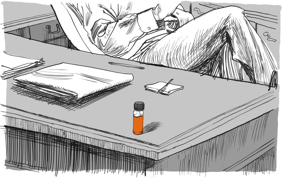 "For a time, Alvin Young kept a vial of agent orange near his desk. His colleagues nicknamed him ""Dr. Orange."" (Matt Rota, Special to ProPublica)"