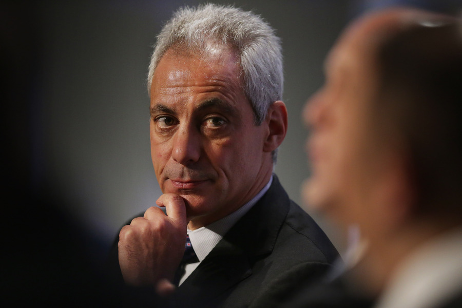 A letter signed by Mayor Rahm Emanuel praising the deal was actually written by an airline lobbyist. (Chip Somodevilla/Getty Images)
