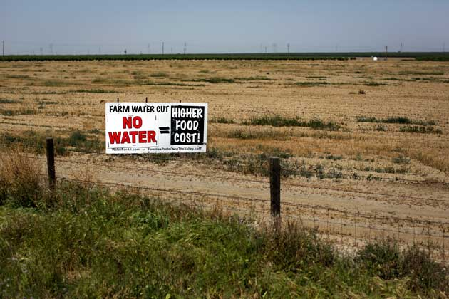 farm water cut sign