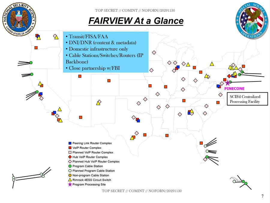cable landing stations internal nsa maps of fairviews backbone