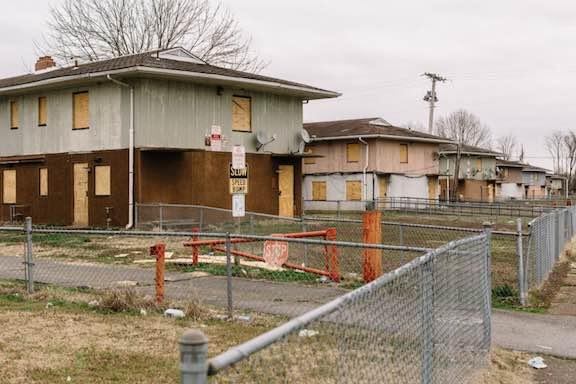 The McBride housing development, in Cairo, Illinois (William Widmer, special to ProPublica)